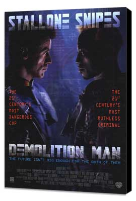 Demolition Man - 27 x 40 Movie Poster - Style A - Museum Wrapped Canvas