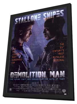 Demolition Man - 11 x 17 Movie Poster - Style A - in Deluxe Wood Frame