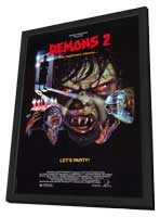 Demons 2: The Nightmare Returns - 27 x 40 Movie Poster - Style A - in Deluxe Wood Frame