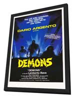Demons - 27 x 40 Movie Poster - Style A - in Deluxe Wood Frame