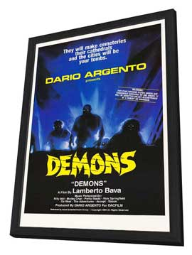 Demons - 11 x 17 Movie Poster - Style A - in Deluxe Wood Frame