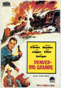 Denver And Rio Grande - 27 x 40 Movie Poster - Spanish Style A