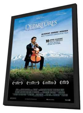 Departures - 27 x 40 Movie Poster - Style A - in Deluxe Wood Frame