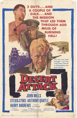 Desert Attack - 11 x 17 Movie Poster - Style A