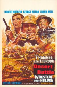 Desert Battle - 27 x 40 Movie Poster - Belgian Style A