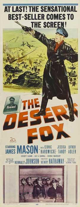 The Desert Fox - 14 x 36 Movie Poster - Insert Style A