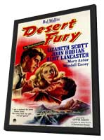 Desert Fury - 11 x 17 Movie Poster - Style A - in Deluxe Wood Frame