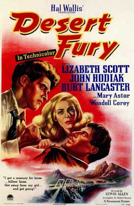 Desert Fury - 11 x 17 Movie Poster - Style A