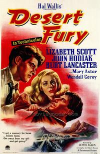 Desert Fury - 43 x 62 Movie Poster - Bus Shelter Style A