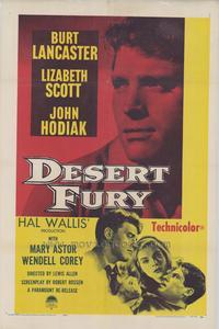 Desert Fury - 27 x 40 Movie Poster - Style B