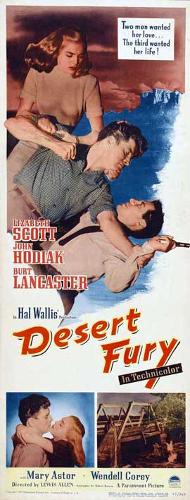 Desert Fury - 14 x 36 Movie Poster - Insert Style A