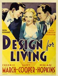 Design for Living - 40 x 40 - Movie Poster - Style A
