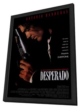 Desperado - 11 x 17 Movie Poster - Style A - in Deluxe Wood Frame