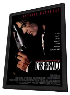 Desperado - 27 x 40 Movie Poster - Style A - in Deluxe Wood Frame