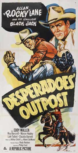 Desperadoes Outpost - 14 x 36 Movie Poster - Insert Style A