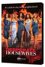 Desperate Housewives - 27 x 40 TV Poster - Style E - Museum Wrapped Canvas
