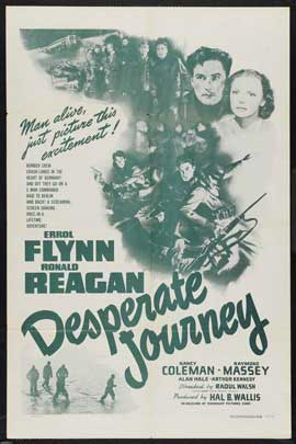 Desperate Journey - 11 x 17 Movie Poster - Style C