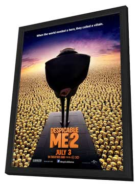 Despicable Me 2 - 27 x 40 Movie Poster - Style D - in Deluxe Wood Frame
