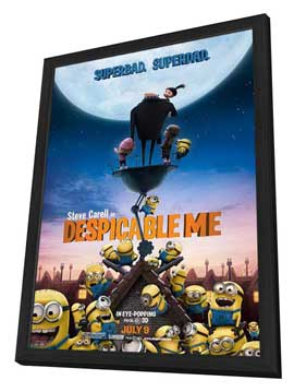 Despicable Me - 11 x 17 Movie Poster - Style G - in Deluxe Wood Frame