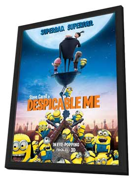Despicable Me - 27 x 40 Movie Poster - Style C - in Deluxe Wood Frame