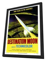 Destination Moon - 27 x 40 Movie Poster - Style A - in Deluxe Wood Frame