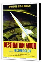 Destination Moon - 27 x 40 Movie Poster - Style A - Museum Wrapped Canvas
