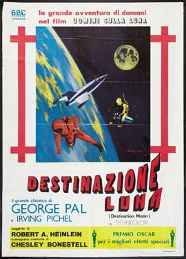 Destination Moon - 27 x 40 Movie Poster - Italian Style A