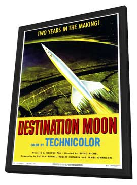 Destination Moon - 11 x 17 Movie Poster - Style A - in Deluxe Wood Frame