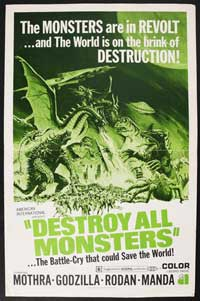 Destroy All Monsters - 11 x 17 Movie Poster - Style A