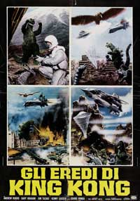 Destroy All Monsters - 11 x 17 Movie Poster - Italian Style A