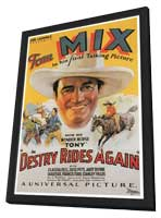 Destry Rides Again - 27 x 40 Movie Poster - Style A - in Deluxe Wood Frame