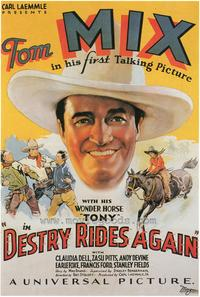 Destry Rides Again - 43 x 62 Movie Poster - Bus Shelter Style A