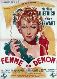Destry Rides Again - 11 x 17 Movie Poster - French Style A