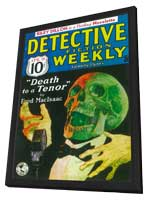 Detective Fiction Weekly (Pulp) - 11 x 17 Pulp Poster - Style A - in Deluxe Wood Frame