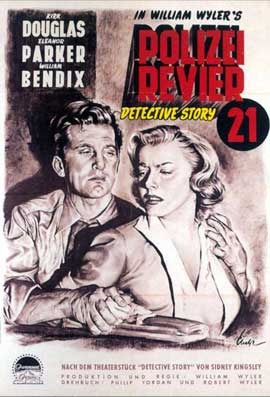 Detective Story - 11 x 17 Movie Poster - German Style F
