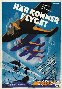 Devil Dogs of the Air - 27 x 40 Movie Poster - Swedish Style A