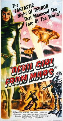 Devil Girl from Mars - 11 x 17 Movie Poster - Style C