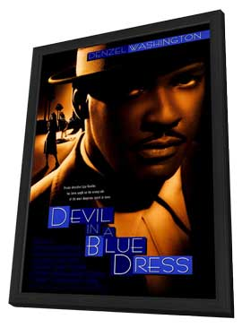 Devil in a Blue Dress - 11 x 17 Movie Poster - Style B - in Deluxe Wood Frame