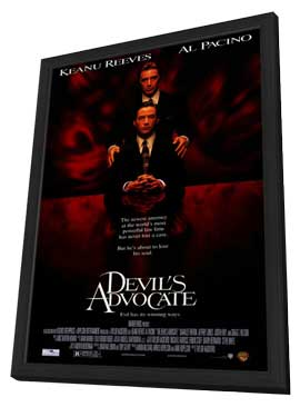 The Devil's Advocate - 27 x 40 Movie Poster - Style A - in Deluxe Wood Frame