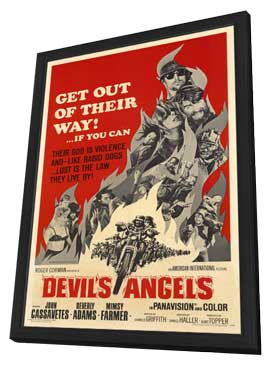 Devil's Angels - 27 x 40 Movie Poster - Style A - in Deluxe Wood Frame