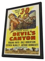 Devil's Canyon - 11 x 17 Movie Poster - Style A - in Deluxe Wood Frame