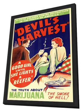 Devil's Harvest - 11 x 17 Movie Poster - Style B - in Deluxe Wood Frame