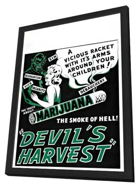 Devil's Harvest - 27 x 40 Movie Poster - Style A - in Deluxe Wood Frame