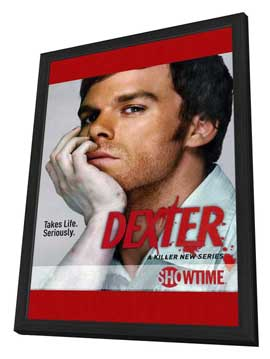 Dexter - 11 x 17 TV Poster - Style A - in Deluxe Wood Frame