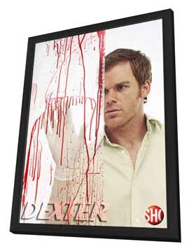 Dexter - 11 x 17 TV Poster - Style I - in Deluxe Wood Frame