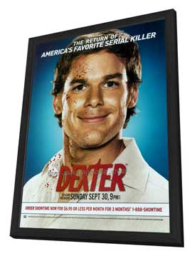 Dexter - 27 x 40 TV Poster - Style G - in Deluxe Wood Frame