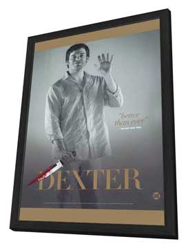 Dexter - 27 x 40 TV Poster - Style F - in Deluxe Wood Frame
