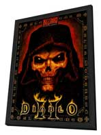 Diablo 2 - 11 x 17 Video Game Poster - Style A - in Deluxe Wood Frame