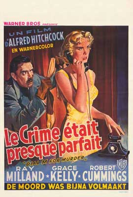 Dial M For Murder - 11 x 17 Movie Poster - Belgian Style A