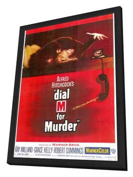 Dial M For Murder - 11 x 17 Movie Poster - Style A - in Deluxe Wood Frame